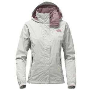 North Face Gray/Plum Resolve 2 Rain Jacket